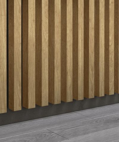 GD - (16 lamellas, santana oak) - Decorative lamellas on the board