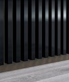 GD - (8 lameli, czarny połysk) - Lamele dekoracyjne na płycie