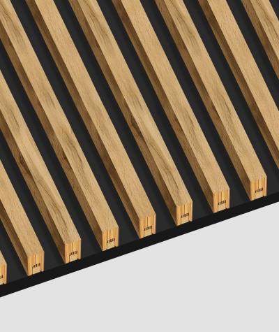 GD - (16 lameli, szary) - Lamele dekoracyjne na płycie