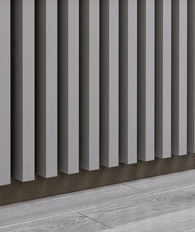 GD - (16 lamellas, gray) - Decorative lamellas on the board