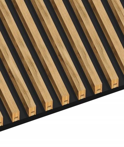 GD - (16 lamellas, capri graphite) - Decorative lamellas on the board