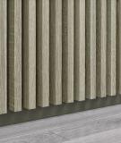 GD - (16 lameli, grafit capri) - Lamele dekoracyjne na płycie