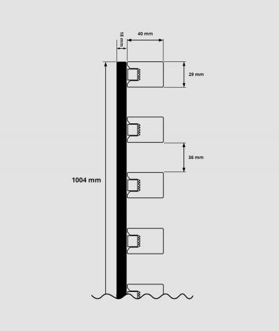 GD - (16 lameli, orzech capri) - Lamele dekoracyjne na płycie