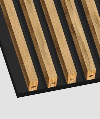 GD - (7 lamellas, wotan oak) - Decorative lamellas on the board