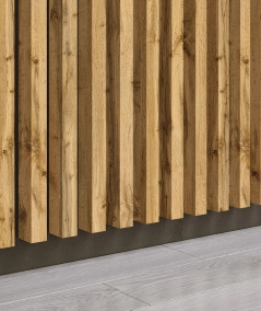 GD - (15 lamellas, wotan oak) - Decorative lamellas on the board