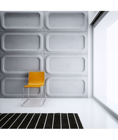 VT - PB19 (B0 white) MODULE O - 3D architectural concrete decor panel