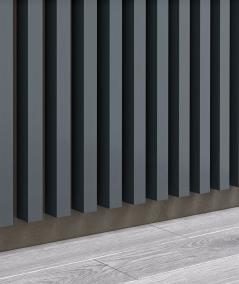 GD - (15 lameli, antracyt) - Lamele dekoracyjne na płycie