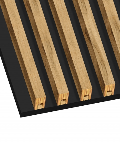 GD - (7 lamellas, bleached oak) - Decorative lamellas on the board