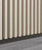 GD - (15 lameli, dąb bielony) - Lamele dekoracyjne na płycie