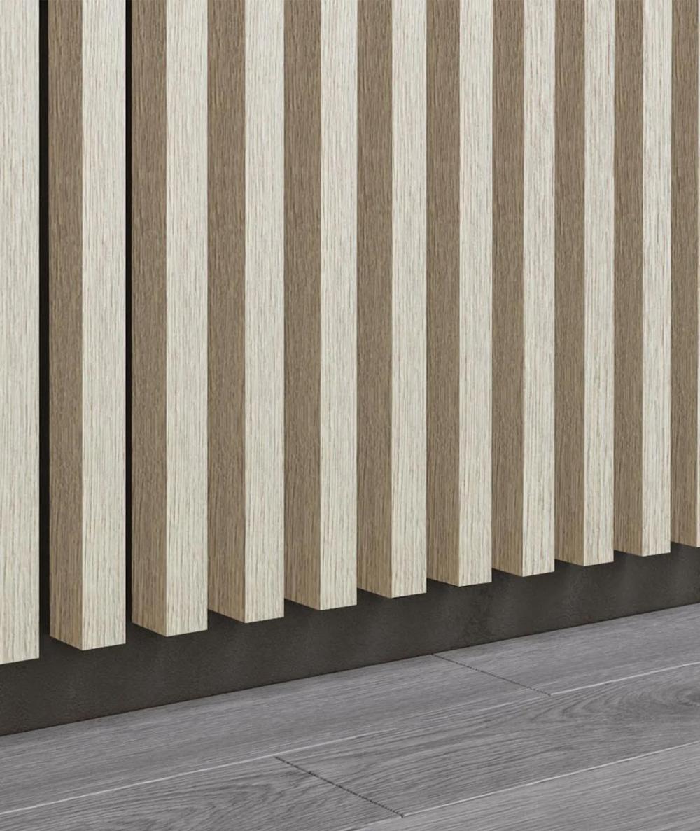 GD - (15 lamellas, bleached oak) - Decorative lamellas on the board