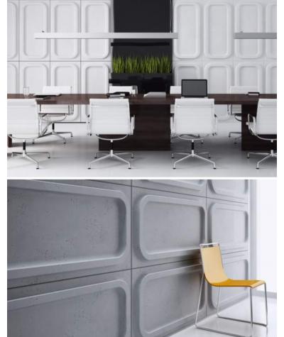 PB19 (S50 light gray 'mouse') MODULE O - 3D architectural concrete decor panel
