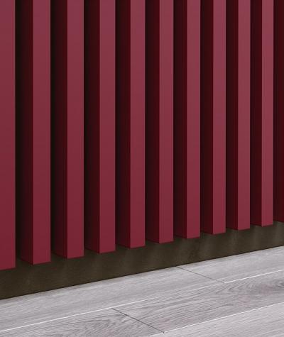 GD - (7 lamellas, mexican burgundy) - Decorative lamellas on the board