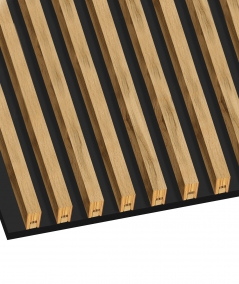 GD - (15 lamellas, matte black) - Decorative lamellas on the board