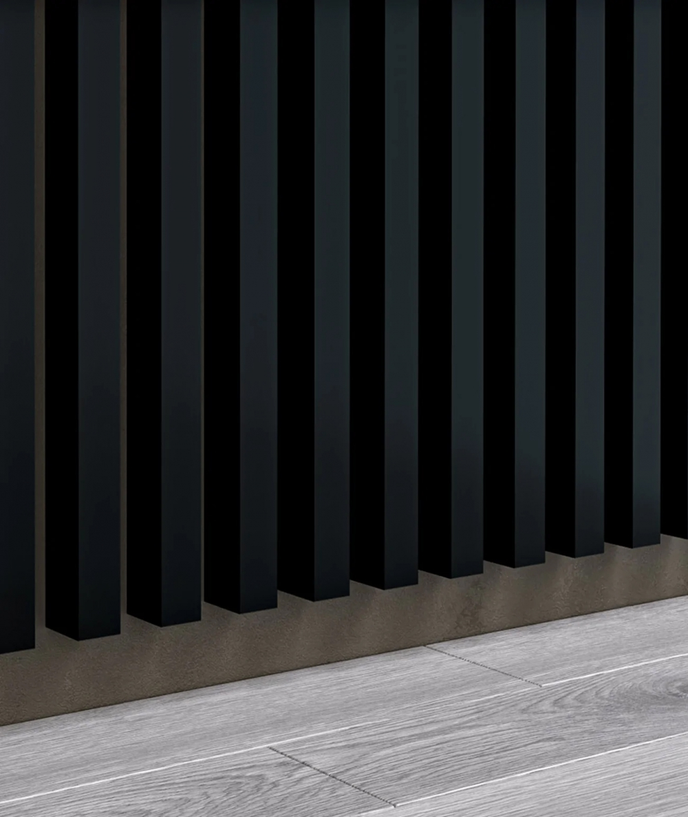 GD - (15 lameli, czarny matowy) - Lamele dekoracyjne na płycie