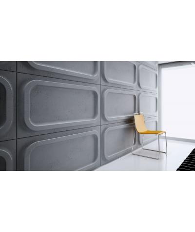 VT - PB19 (S51 dark gray - mouse) MODULE O - 3D architectural concrete decor panel