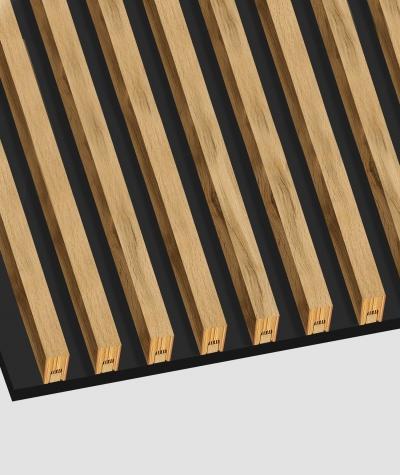 GD - (15 lameli, grafit capri) - Lamele dekoracyjne na płycie
