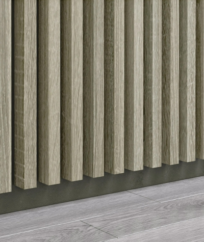 GD - (15 lamellas, capri graphite) - Decorative lamellas on the board