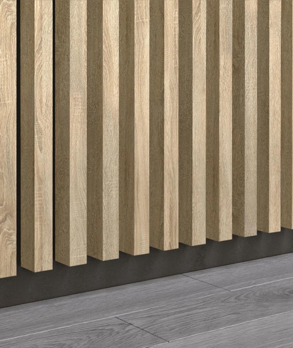 GD - (15 lamellas, capri ash) - Decorative lamellas on the board