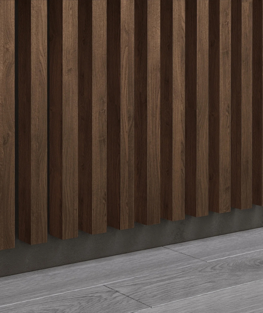 GD - (7 lamellas, capri walnut) - Decorative lamellas on the board
