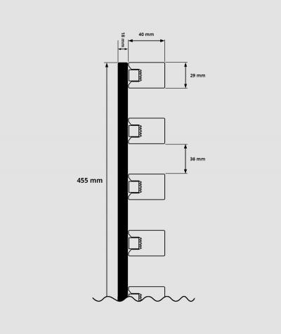 GD - (7 lameli, dąb riviera) - Lamele dekoracyjne na płycie
