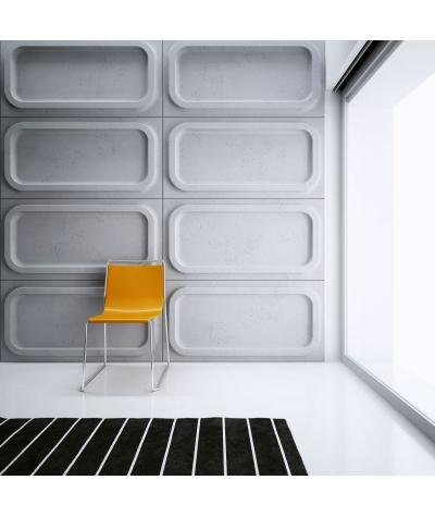 VT - PB19 (S95 light gray - dove) MODULE O - 3D architectural concrete decor panel