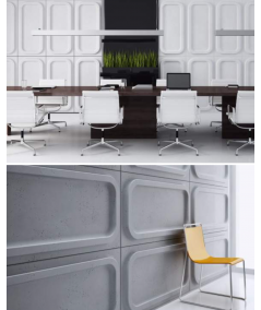 VT - PB19 (S95 jasny szary 'gołąbkowy') MODUŁ O - panel dekor 3D beton architektoniczny