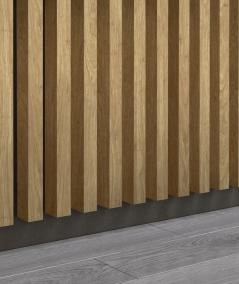 GD - (7 lamellas, santana oak) - Decorative lamellas on the board