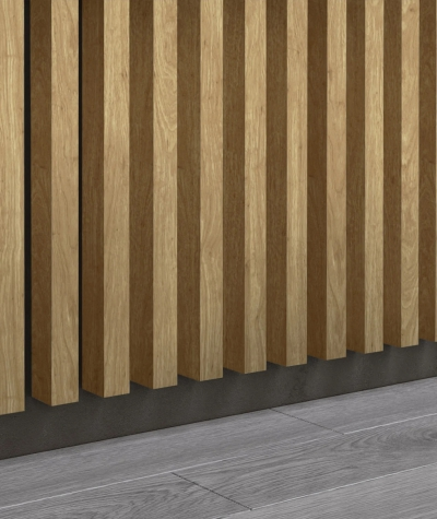 GD - (15 lameli, dąb santana) - Lamele dekoracyjne na płycie