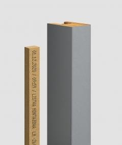GD - (7 lamellas, gray) - Decorative lamellas on the board