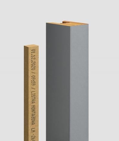 GD - (15 lamellas, gray) - Decorative lamellas on the board