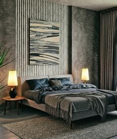 GD - (8 lamellas, desert beige) - Decorative lamellas on the board