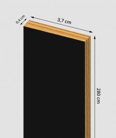 GD - (black) - 3.7 cm decorative strip for wall lamellas