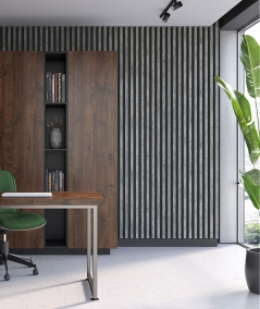GD - (white) - 3 cm decorative strip for wall lamellas
