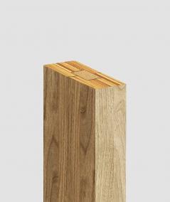 GD Lamella (santana oak) - Double 3D decorative panel