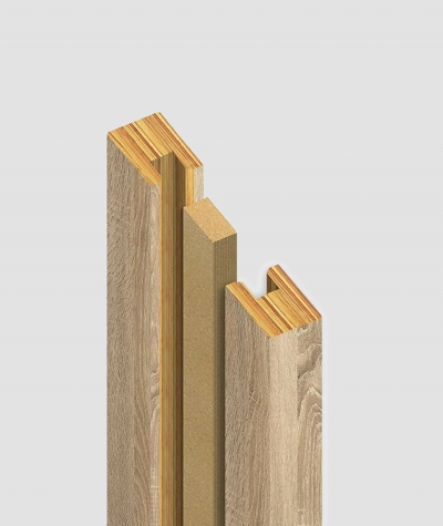 GD Lamella (capri ash) - Double 3D decorative panel