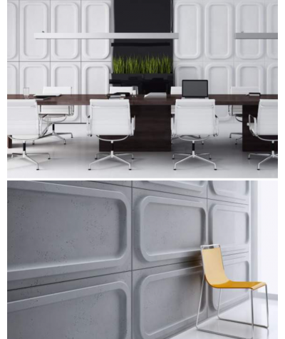 VT - PB19 (B15 czarny) MODUŁ O - panel dekor 3D beton architektoniczny