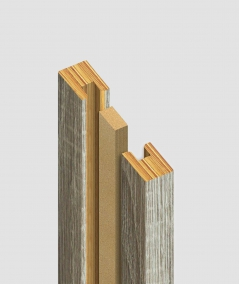 GD Lamella (capri graphite) - Double 3D decorative panel