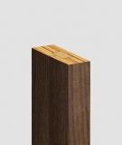 GD Lamel (orzech capri) - Podwójny panel dekoracyjny ścienny 3D
