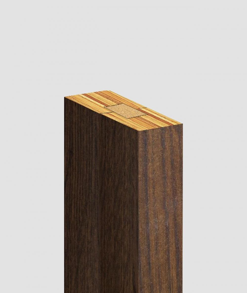 GD Lamella (capri walnut) - Double 3D decorative panel