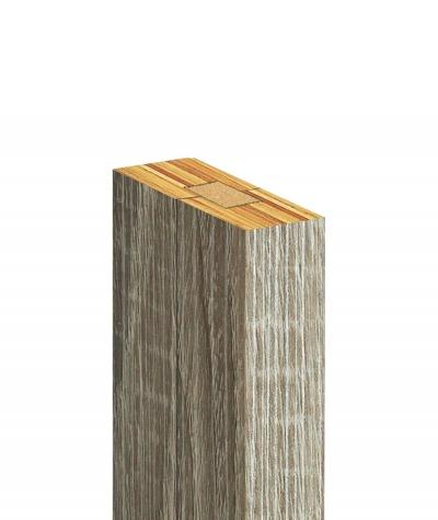 GD Lamel (grafit capri) - Podwójny panel dekoracyjny ścienny 3D