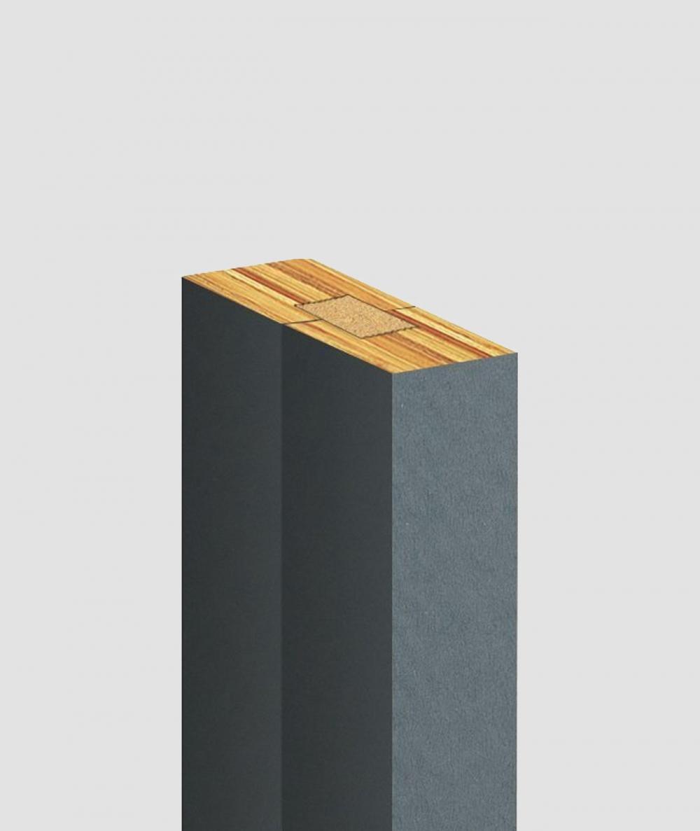 GD Lamel (antracyt) - Podwójny panel dekoracyjny ścienny 3D