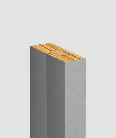 GD Lamel (szary) - Podwójny panel dekoracyjny ścienny 3D