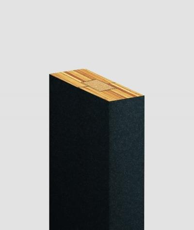 GD Lamel (czarny matowy) - Podwójny panel dekoracyjny ścienny 3D
