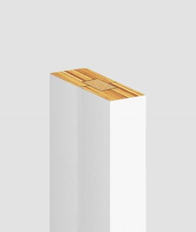 GD Lamel (biały matowy) - Podwójny panel dekoracyjny ścienny 3D