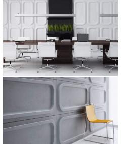 VT - PB19 (BS snow white) MODULE O - 3D architectural concrete decor panel