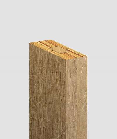 GD Lamella (riviera oak) - Double 3D decorative panel