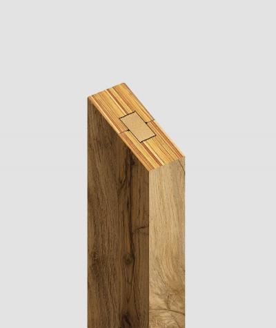 GD Lamella (wotan oak) - Double 3D decorative panel