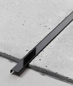 SM - (glossy black) - steel decorative strip C