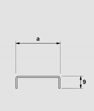 SM - (miedziany połysk) - stalowa listwa dekoracyjna C