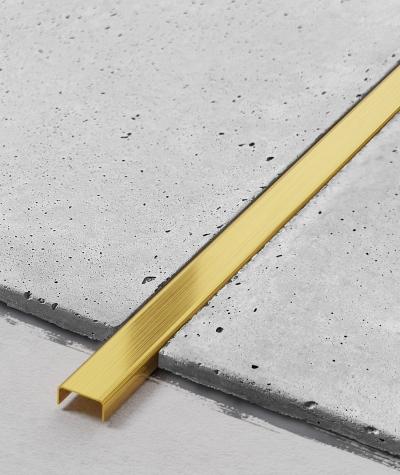 SM - (złoty matowy) - stalowa listwa dekoracyjna C